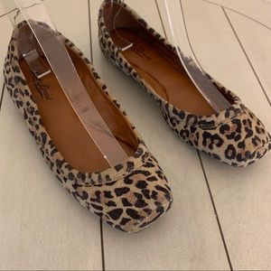 Lucky Brand Cheetah Leopard Flats Size 7